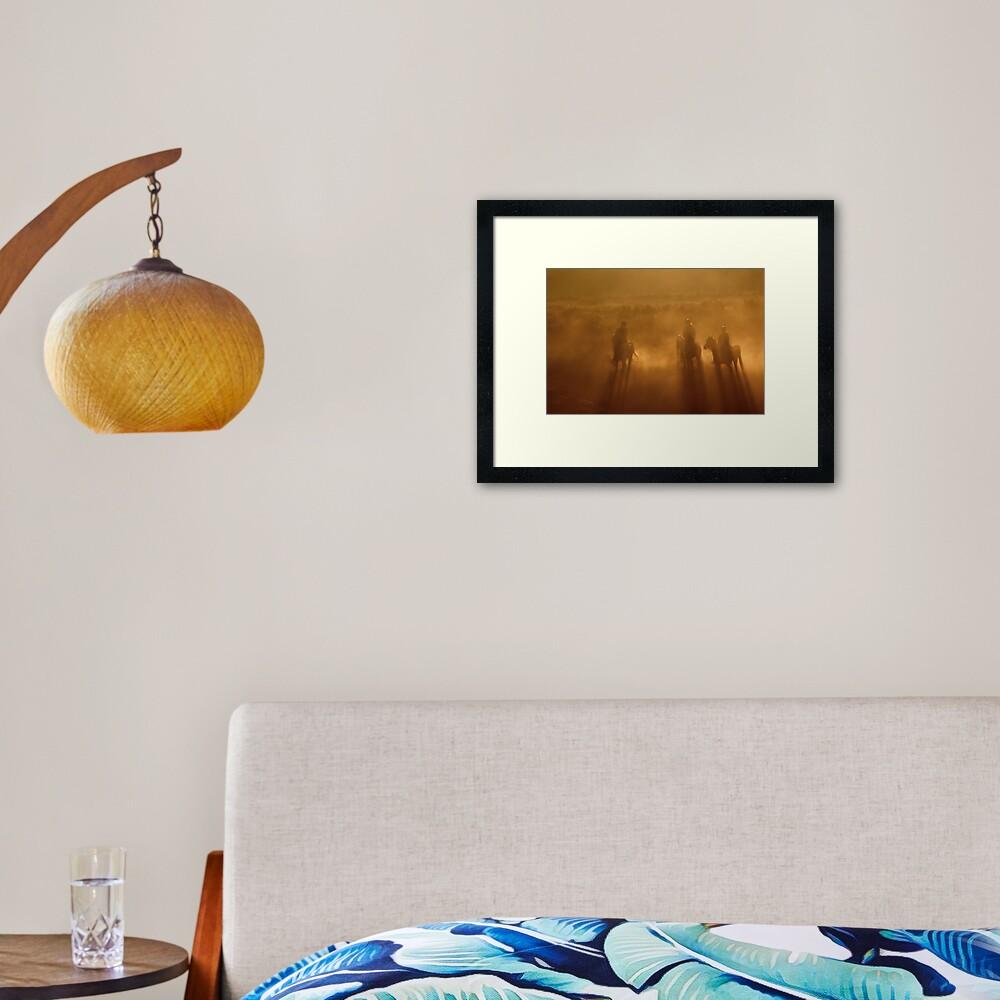 Riders in the Dawn Framed Art Print