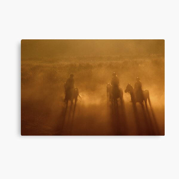 Riders in the Dawn Canvas Print
