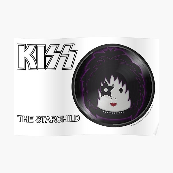 Kiss Band - Solo - Starchild - Cute design for kids Poster