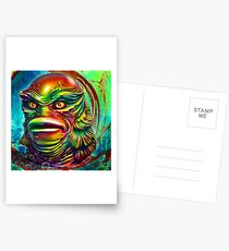 Creature from the black lagoon. Postcards