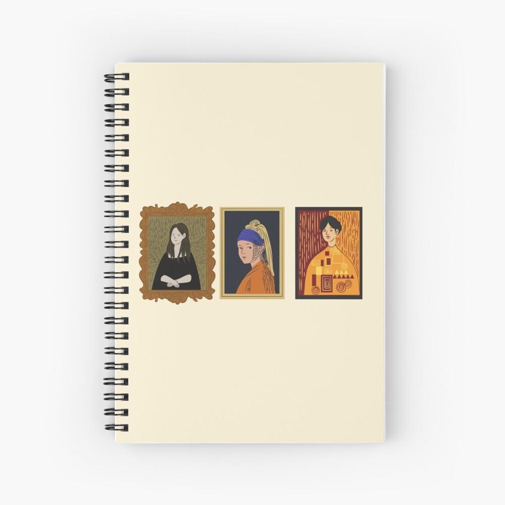 Art Hoe- Art Museum Spiral Notebook
