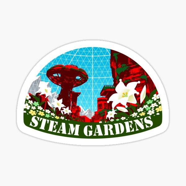 Jardines de vapor Pegatina
