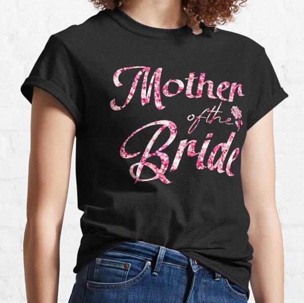 Grandmother Of The Bride Pink Rhinestone Wedding Womens T-shirt