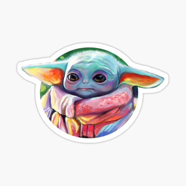 Pastel Baby Yoga Sticker
