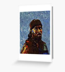 Omar Little by VanGogh - www.art-customized.com Greeting Card