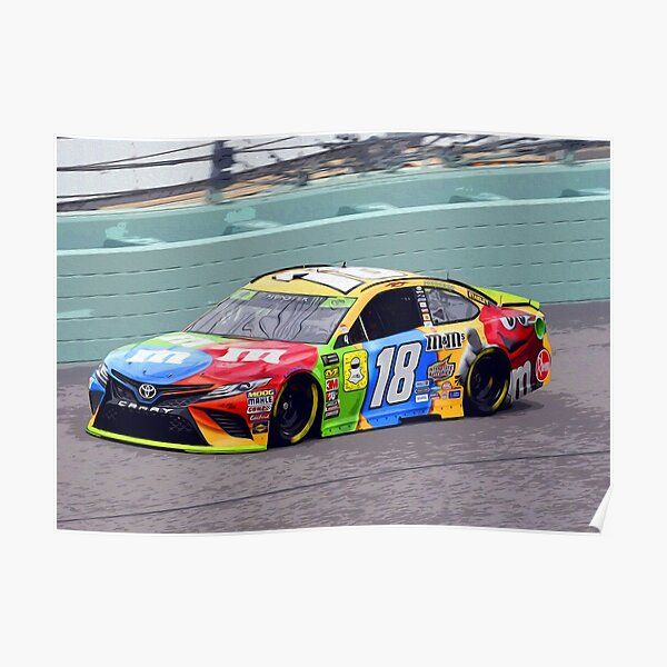 Kyle Busch racing 2018 Poster