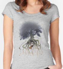 The Roaming Oak  Women's Fitted Scoop T-Shirt
