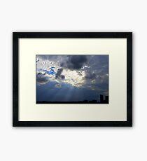 Rays Over St. Pete Framed Print
