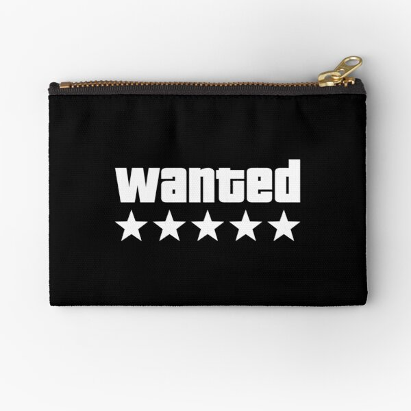 WANTED - Grand Theft Auto V - White Zipper Pouch