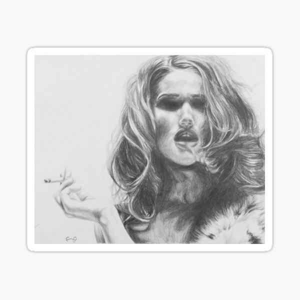La Diva de Nicotina Sticker