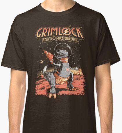Space Pulp Robot Dinosaur Hero Classic T-Shirt