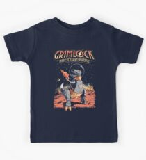 Space Pulp Robot Dinosaur Hero Kids Tee