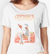 Space Pulp Robot Dinosaur Hero Women's Relaxed Fit T-Shirt