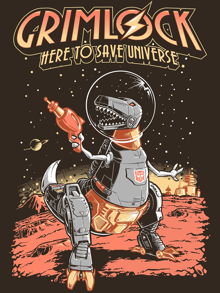 Space Pulp Robot Dinosaur Hero by Obvian