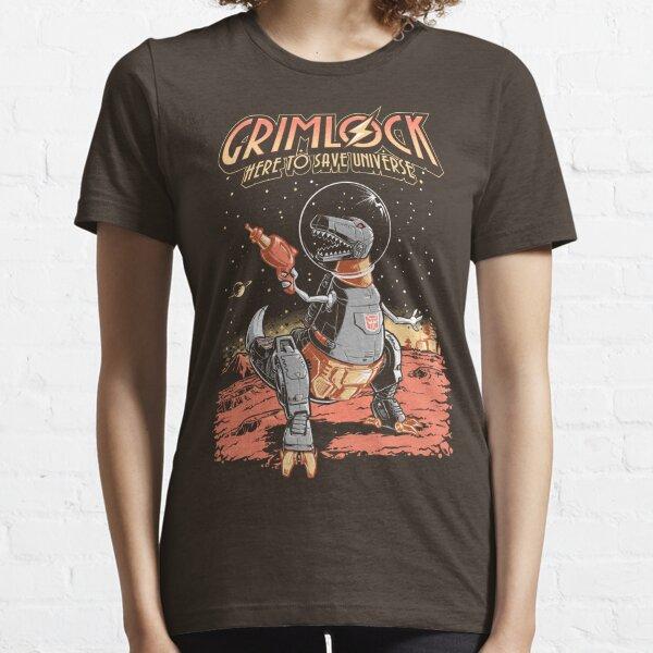 Space Pulp Robot Dinosaur Hero Essential T-Shirt