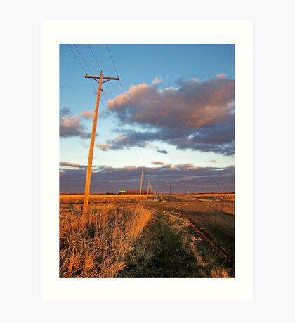 Lonesome Roads Art Print