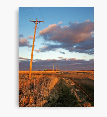 Lonesome Roads Canvas Print