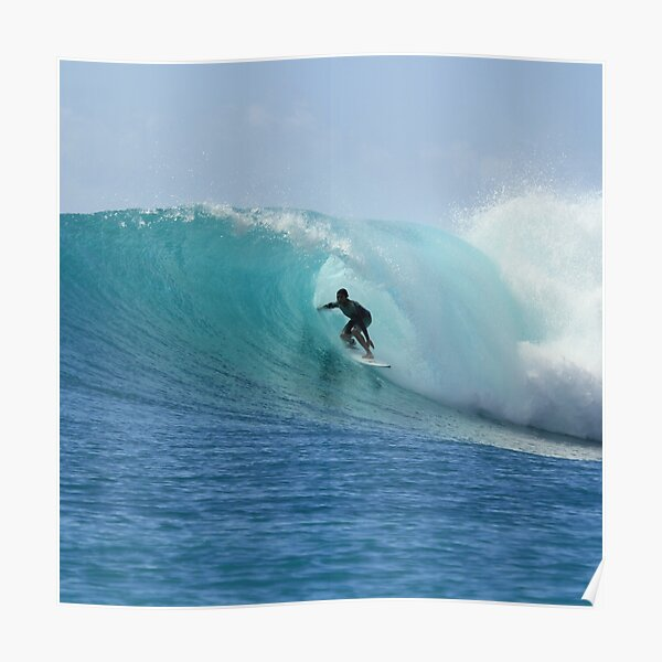 SURFER IN THE BIG WAVE POSTER 24x36-3573