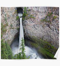 Spahats Creek Falls, Wells Grey Provincial Park, BC Poster
