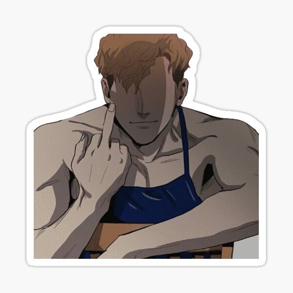 killing stalking sangwoo Glossy Sticker