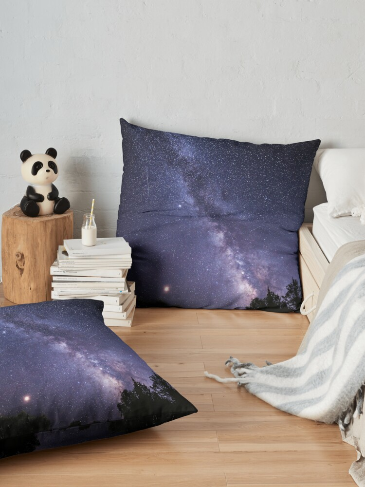 Alternate view of Perseid Meteor Shower and the Milky Way Floor Pillow
