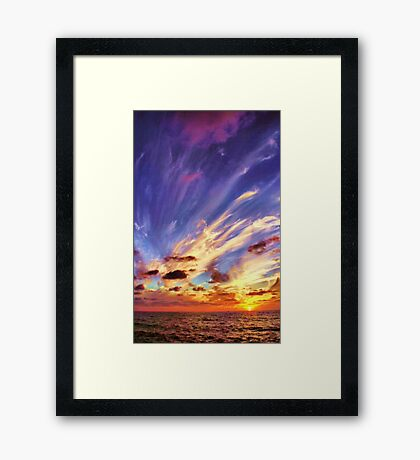 Blown Away Framed Print