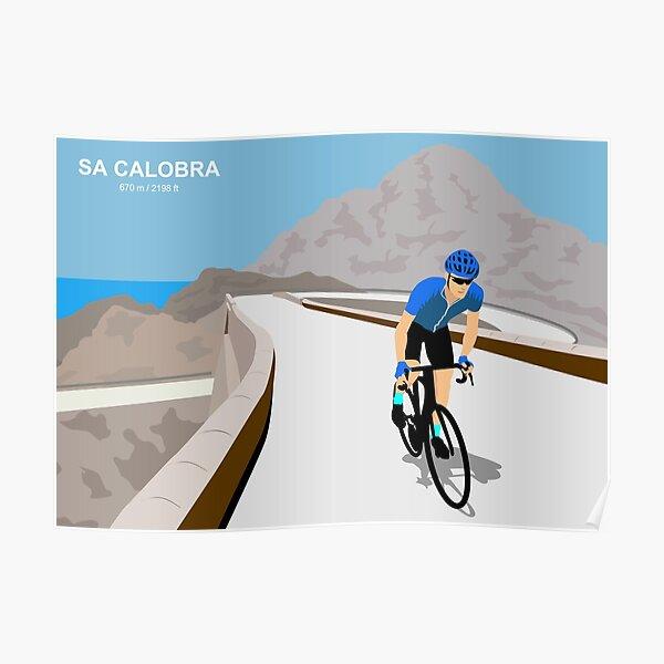 Sa Calobra Mallorca Cycling Art Print Poster