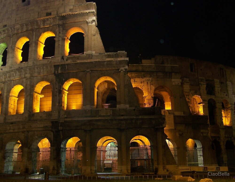 The Colosseum at night by CiaoBella