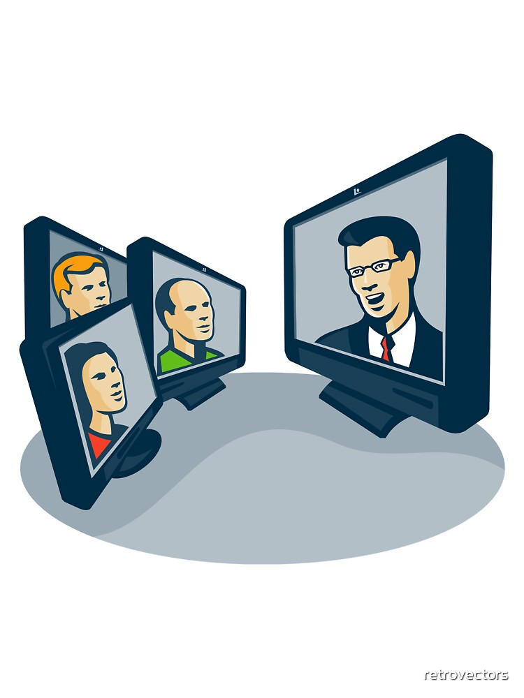 Webinar Video Conference Retro  by retrovectors
