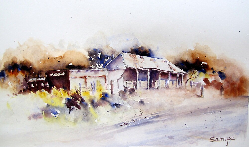 Old Cottage in Outback Australia by Sampa Bhakta