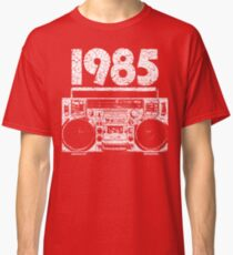 1985 Boombox Distressed Graphic Classic T-Shirt