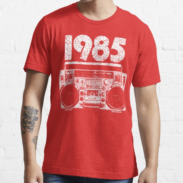 1985 Boombox Distressed Graphic Essential T-Shirt
