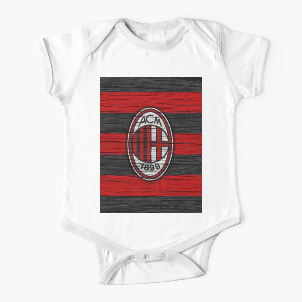 Ac Milan Baby One Piece By Mathijsbolt Redbubble