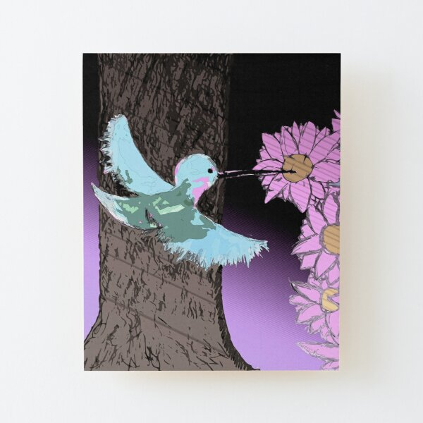 Humming Bird by Dre Wood Mounted Print