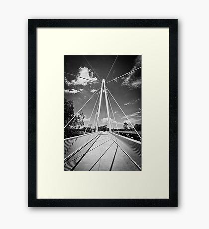 Pearson Crossing Bridge in Black and White Framed Print