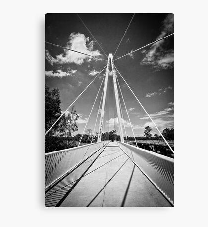 Pearson Crossing Bridge in Black and White Canvas Print