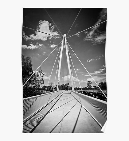 Pearson Crossing Bridge in Black and White Poster