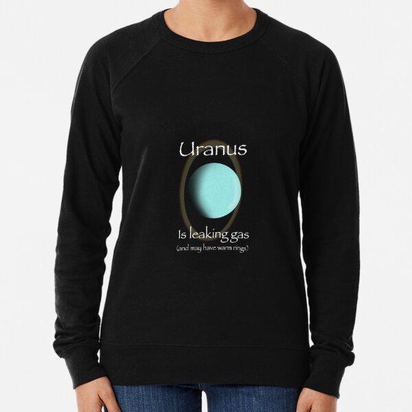 Uranus is leaking gas and may have warm rings Lightweight Sweatshirt