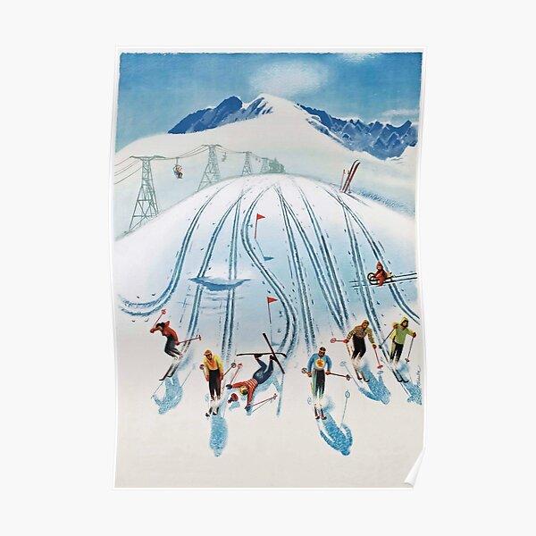 Vintage Ski Poster -  Nízke Tatry  Poster