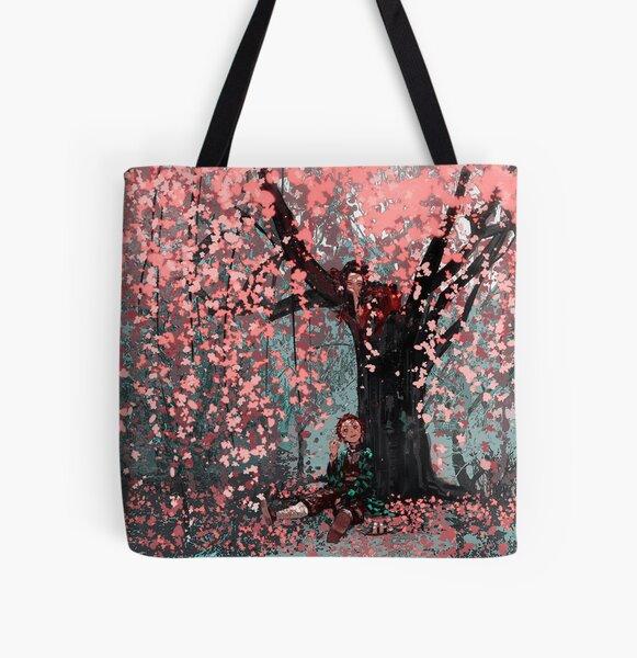 Nezuko Tanjirou - Demon Slayer All Over Print Tote Bag