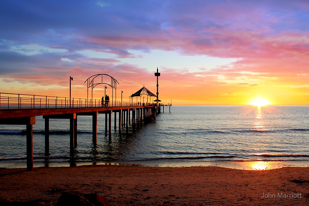 Colourful Brighton Jetty Sunset by John Marriott