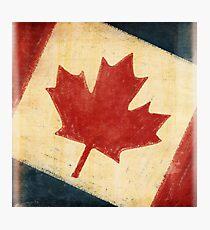 Canada flag Photographic Print