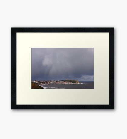 Storm over Scarborough 4 Framed Print