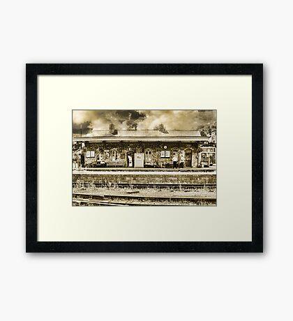 The Old Days Framed Print