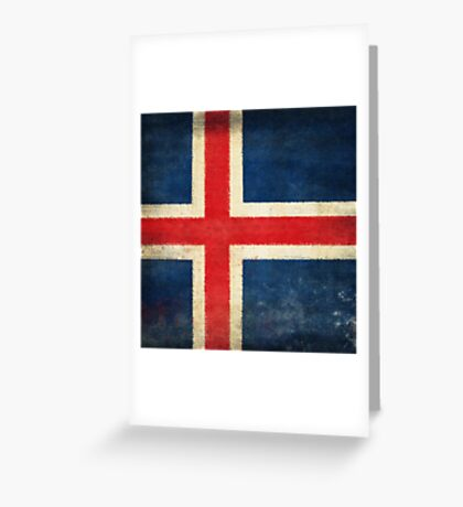 Iceland flag  Greeting Card