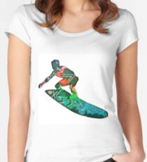 Retro surfer Women's Fitted Scoop T-Shirt