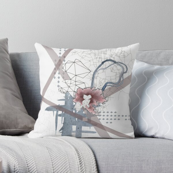 Bouquet series composite #1 Throw Pillow