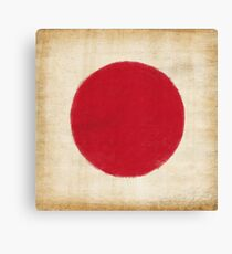 Japan flag painting in vintage style Canvas Print