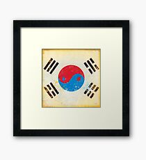 south Korea flag Framed Print