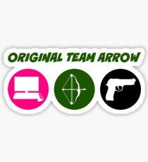 Original Team Arrow - Colorful Symbols - Weapons Sticker